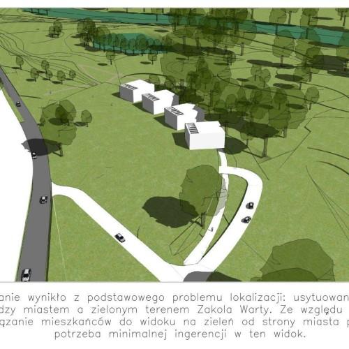 thinking architects ARCHITEKT Jakub Gwizdała projekty gotowe nowoczesny projekt domu hotel spa PUSZCZYKOWO ZAKOLE WARTY widok z lotu ptaka