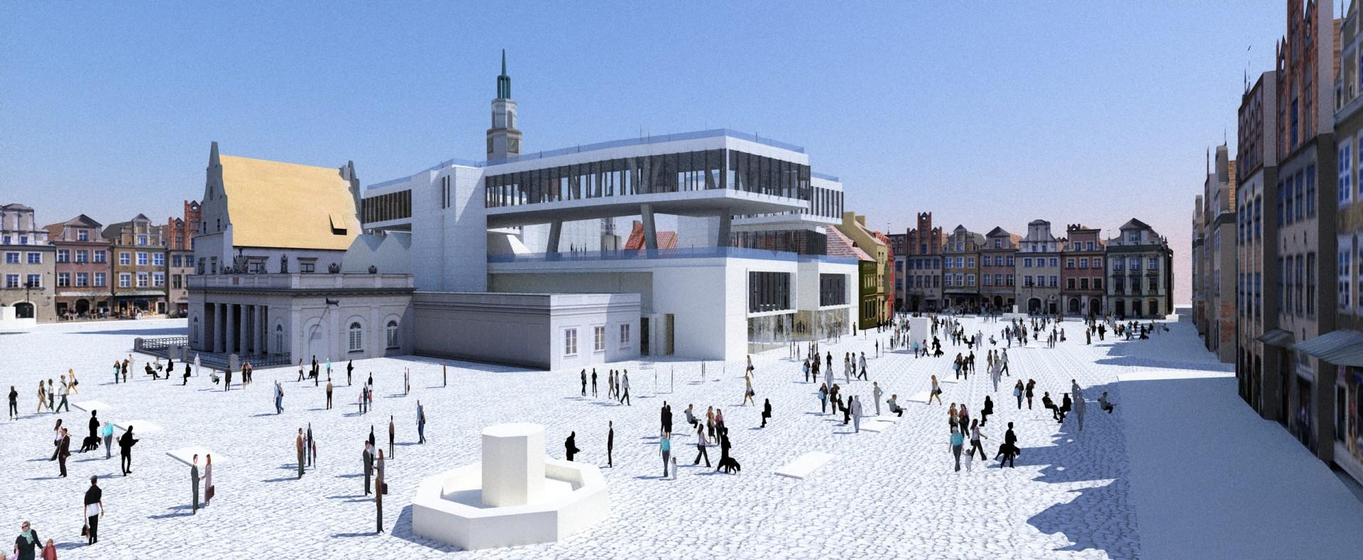 thinking architects ARCHITEKT Jakub Gwizdała projekty gotowe nowoczesny projekt domu   museum of modern art poznan view from the Market