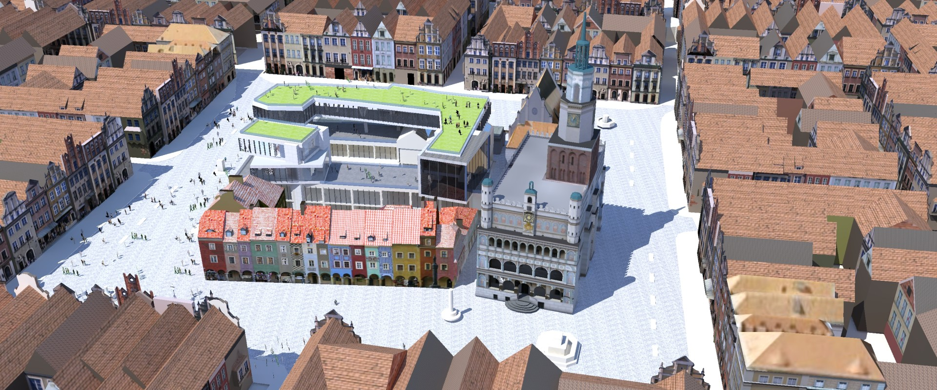 In the heart of Poznań - on the Old Market Square - a Contemporary Art Museum is going to change the perception of old historic urban structure.