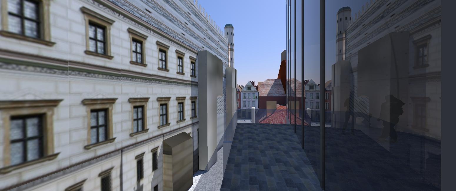 thinking architects ARCHITEKT Jakub Gwizdała projekty gotowe nowoczesny projekt domu  museum of modern art poznan Main entrance lobby terrace