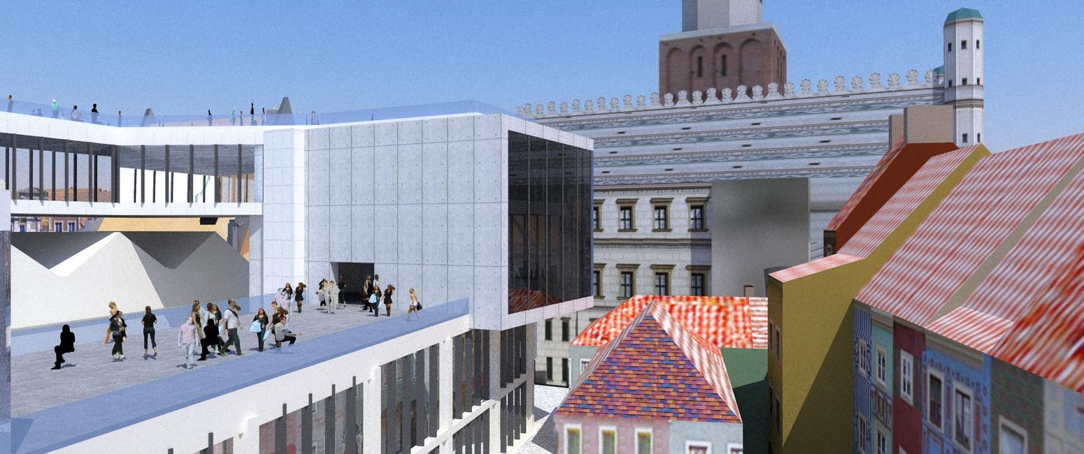 thinking architects ARCHITEKT Jakub Gwizdała projekty gotowe nowoczesny projekt domu  surroundings of the museum