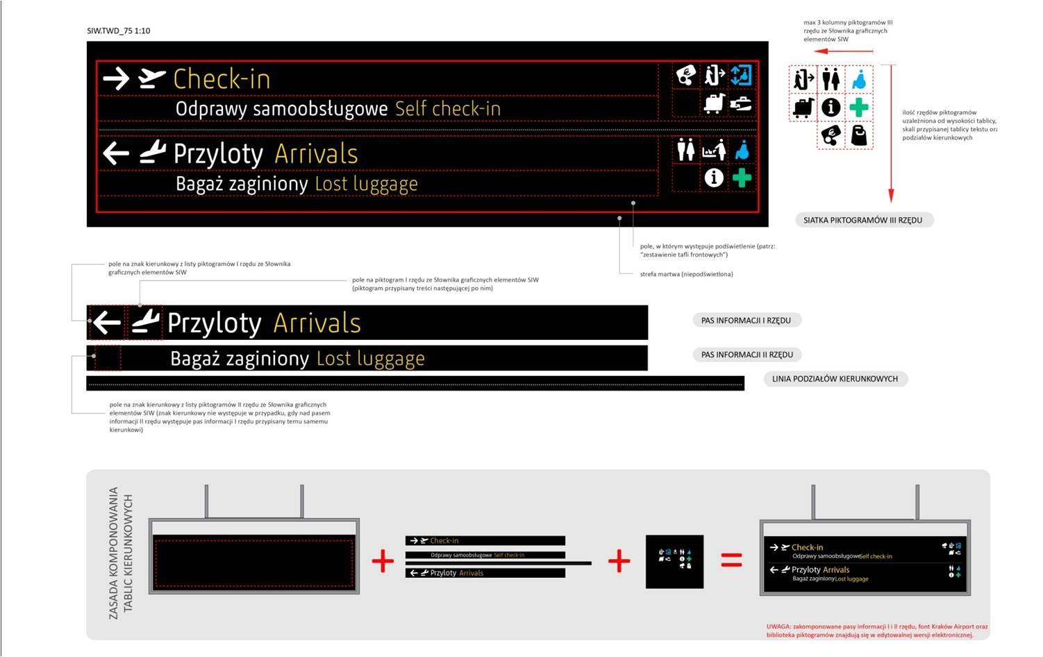 krakow airport wayfinding information structure