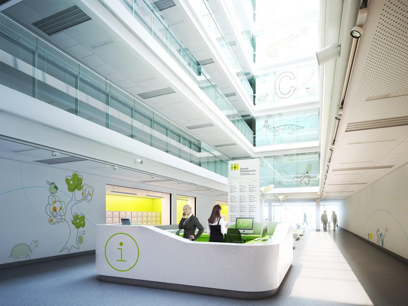 thinking architects ARCHITEKT Jakub Gwizdała projekty gotowe nowoczesny projekt domu signage warsaw pediatric hospital szpital pediatryczny warszawa 04