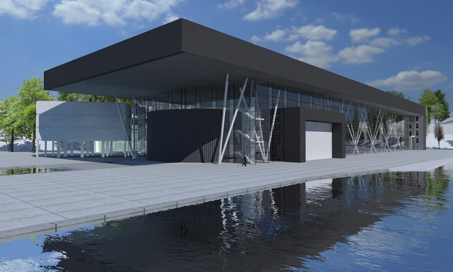 thinking architects ARCHITEKT Jakub Gwizdała Hala produkcyjna w Sassnitz modern architecture poland, germany, Niemcy