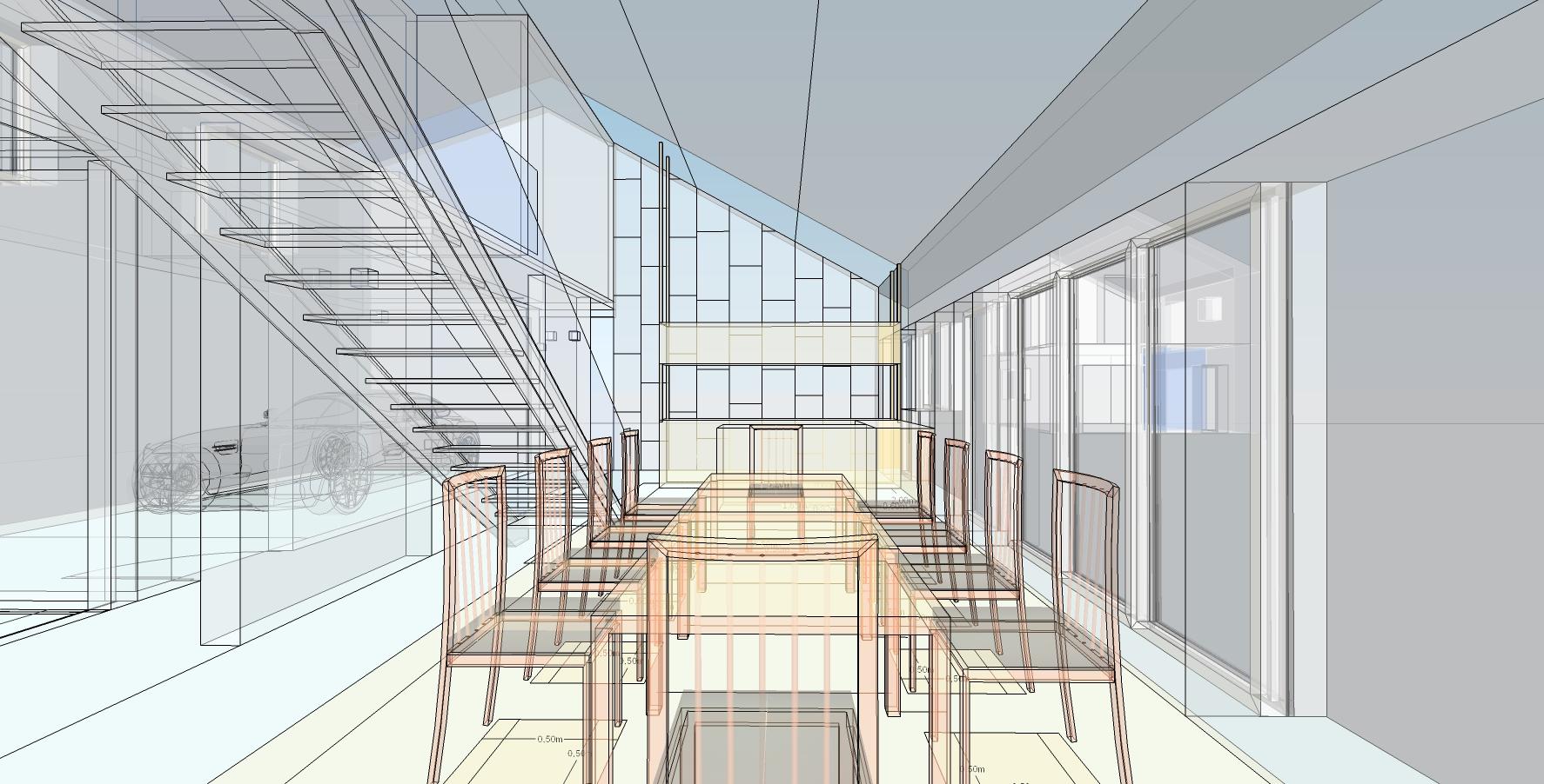 thinking architects ARCHITEKT Jakub Gwizdała house projekt domu - - A170 house dining