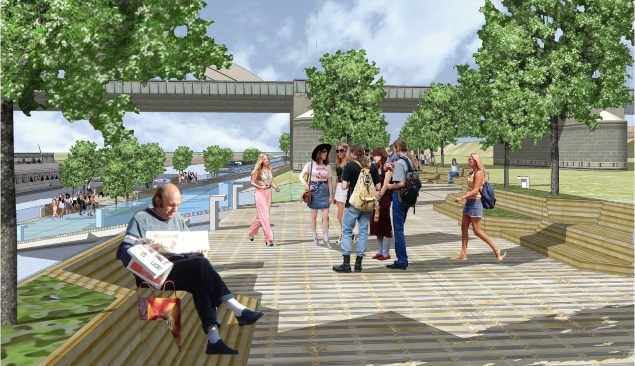 Floating Boulevards Concept Plywajace Bulwary nad Warta(3)