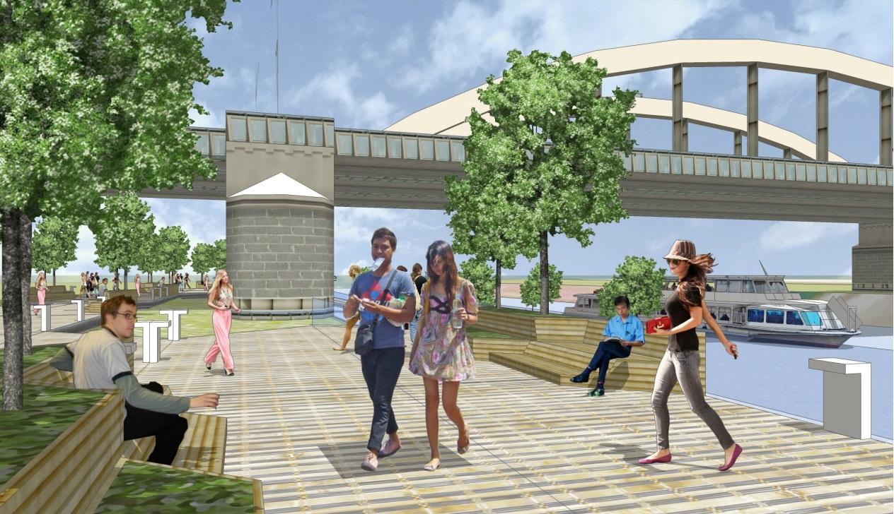 Floating Boulevards Concept Plywajace Bulwary nad Warta(4)