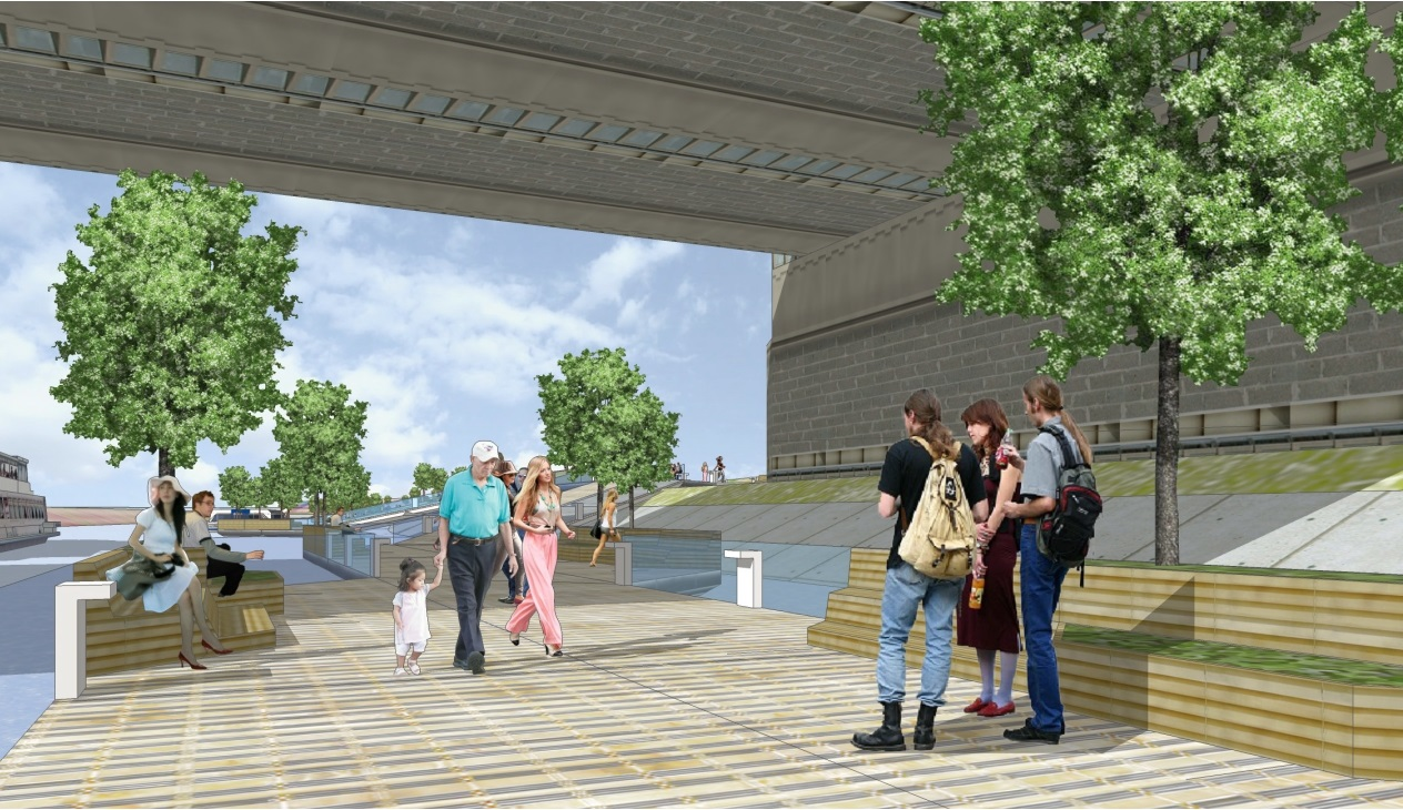 Floating Boulevards Concept Plywajace Bulwary nad Warta(5)