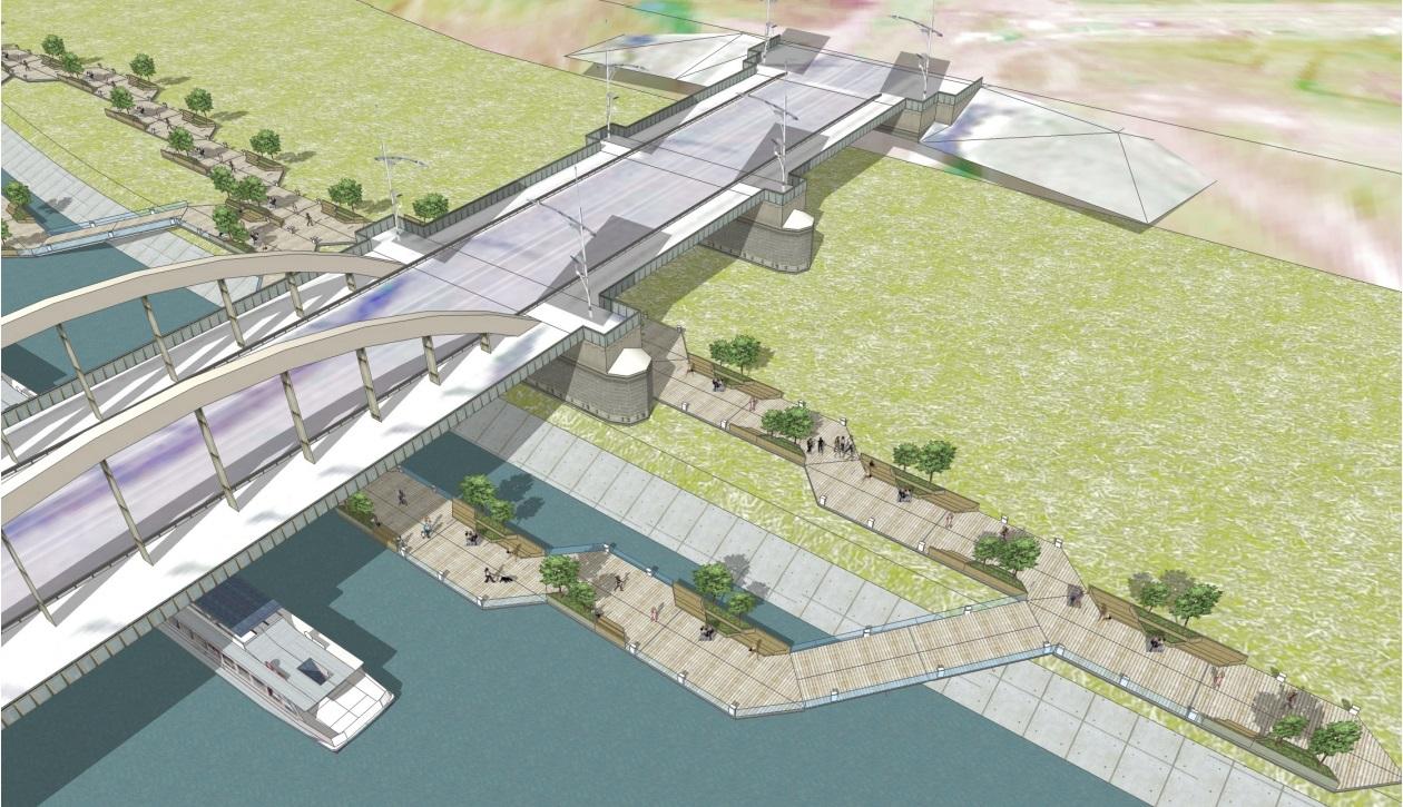 Floating Boulevards Concept Plywajace Bulwary nad Warta(6)