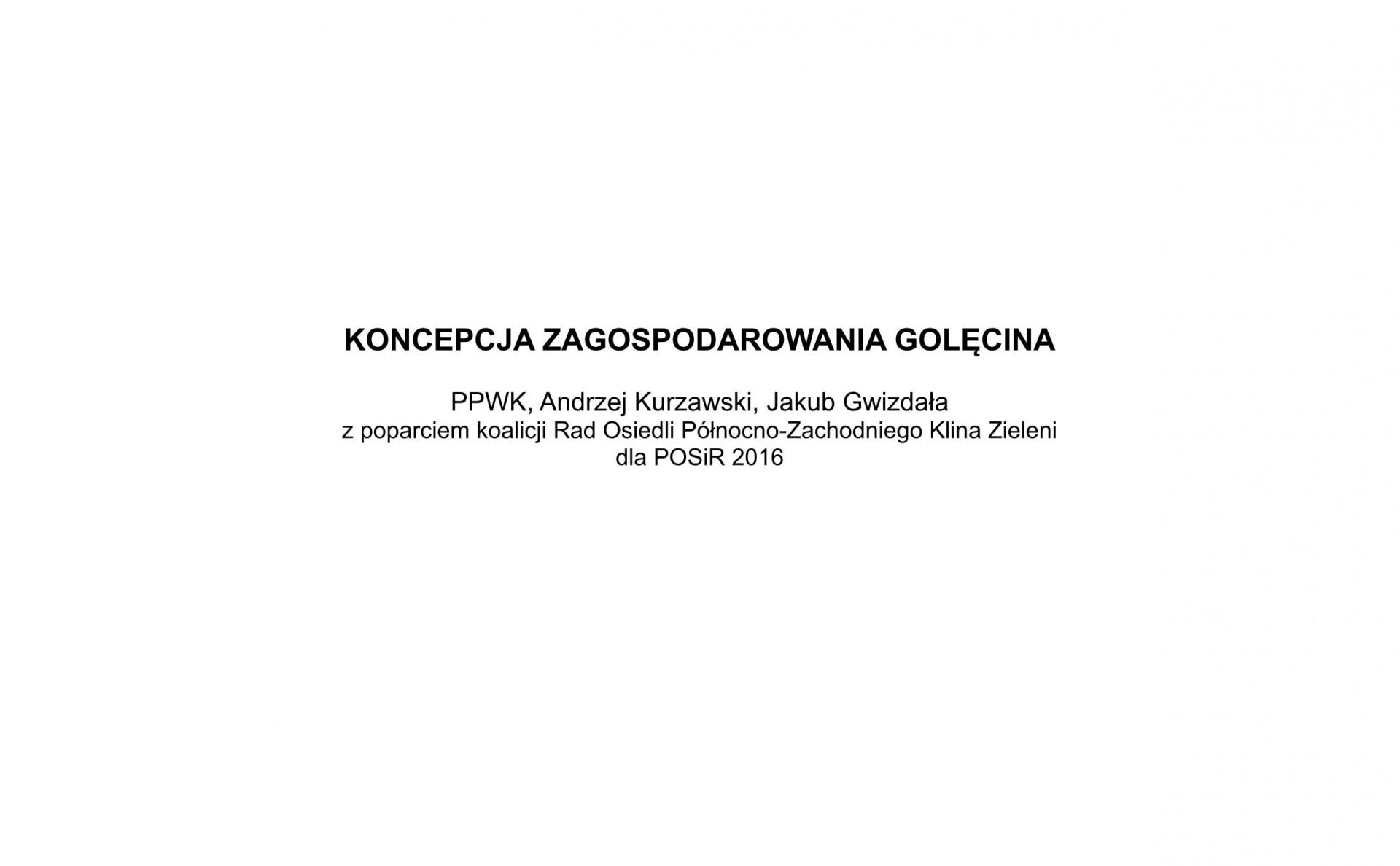 Plan Zagospodarowania Golęcina Poznań_
