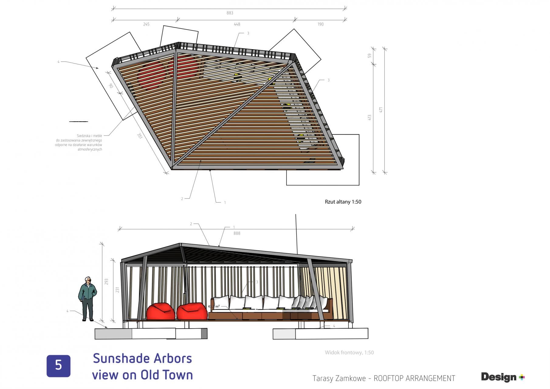 Tarasy Zamkowe Lublin taras na dachu koncept__44